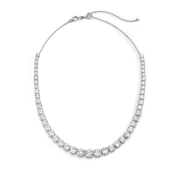 CZ GRAND GRADUATED BOLO NECKLACE