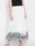 LYLA WOMAN EMBROIDERED FLARED SKIRT