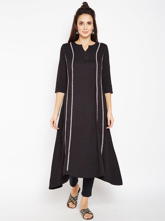 Lyla Women Panel Embroidery Kurta