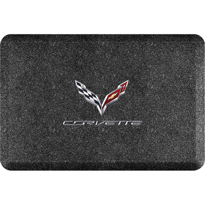"Licensed Collection – ""C7 Corvette Crossflags"" Logo - WellnessMats"
