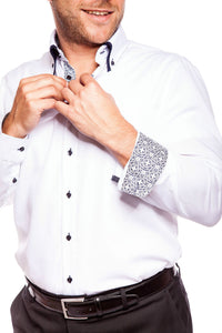 The Essential Contrasting Collar & Cuff Shirt - DV Clothiers - The Best Custom Mens Suits In Vancouver