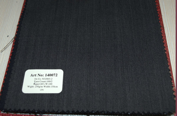 signature-100-wool-super-140s-250-gs-m-herringbone-blue-140072 - DV Clothiers - The Best Custom Mens Suits In Vancouver
