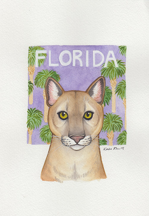 Florida Panther Painting
