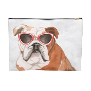 English Bulldog with Sunglasses Pooch Pouch