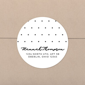Cheerful Polka Dot Personalized Address Stickers