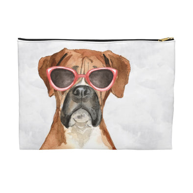Boxer with Sunglasses Pooch Pouch