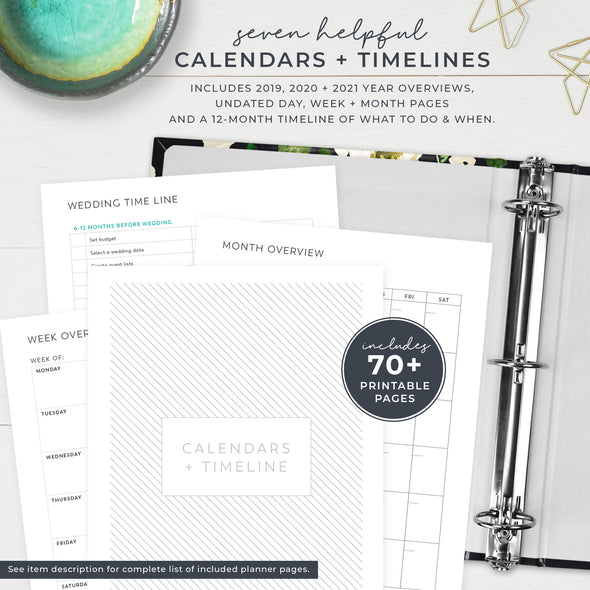 Wedding Planner with Printable Planner Pages
