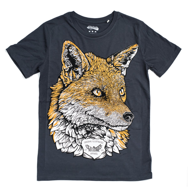Fox Ink Blue Organic Tee