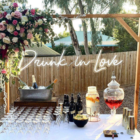 Drunk in Love Neon LED Sign for Your Wedding Day and Forever - MK Neon