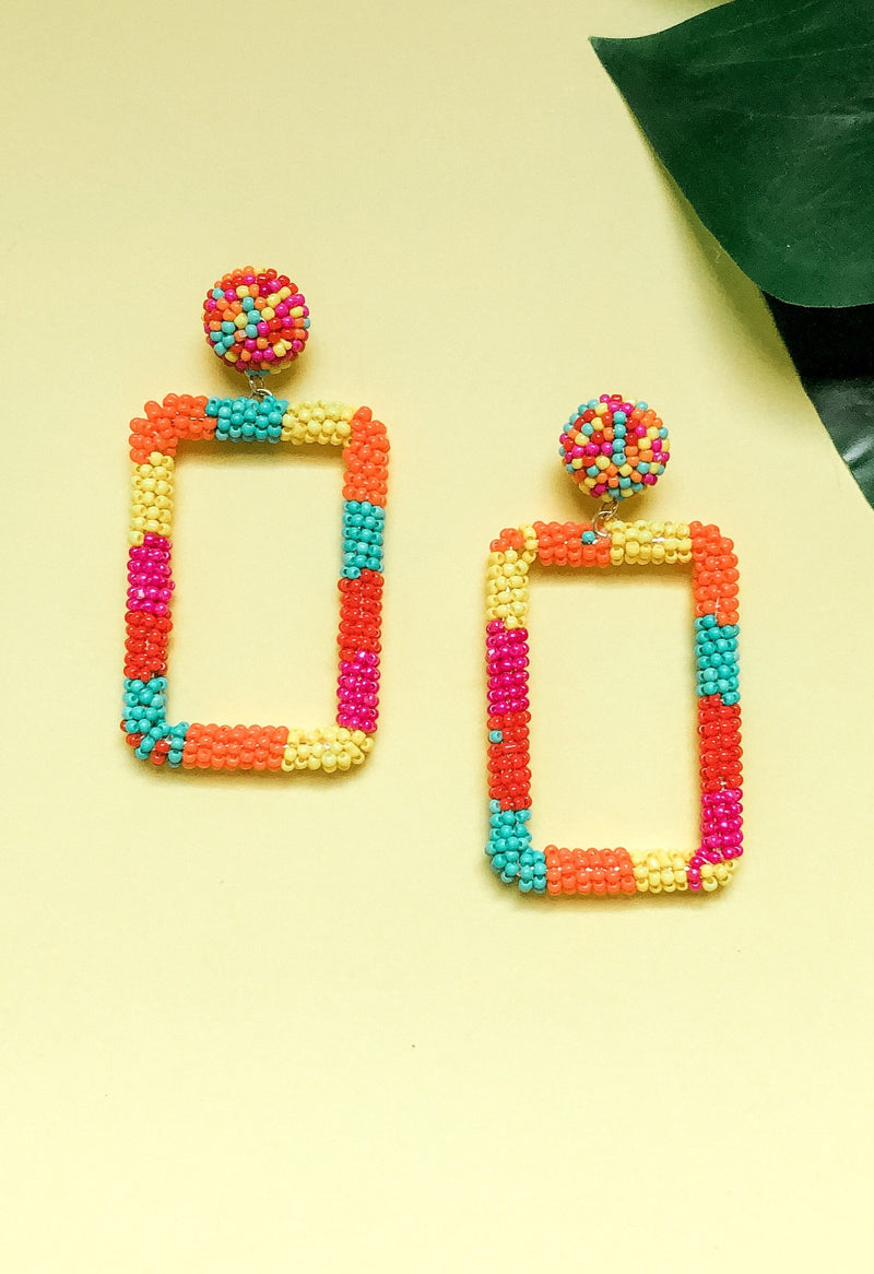 Over The Rainbow Statement Earring, Multi