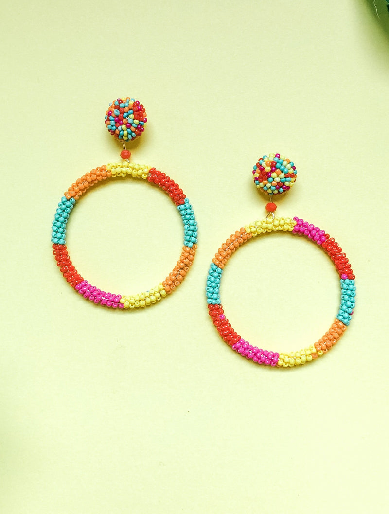 Rainbow Circle Earring, Multi
