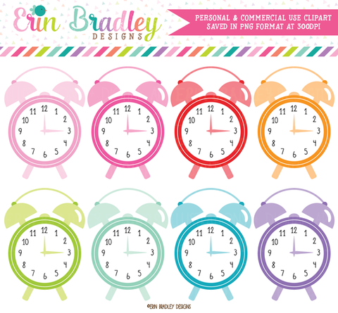 Alarm Clocks Clipart Time Graphics
