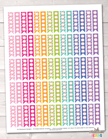 Apple To Do Flags Printable Planner Stickers