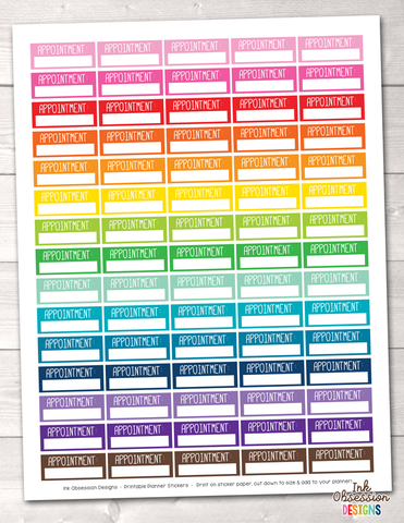Appointment Boxes Printable Planner Stickers