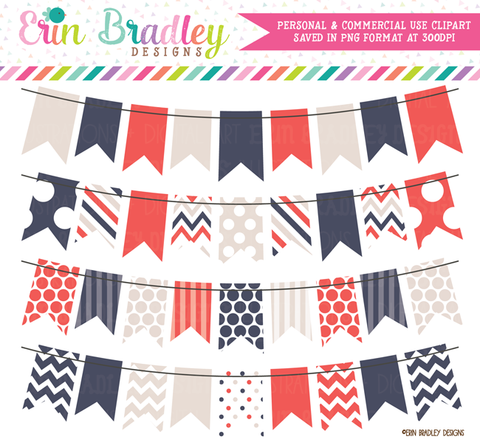 Summer Breeze Clipart Bunting