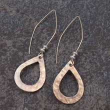 Load image into Gallery viewer, Abigail - Gold Teardrop Earrings