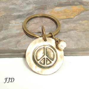 Peace - Key Fob  Key Chain