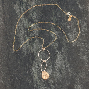 Abigail   - Hoop and Marquise Necklace
