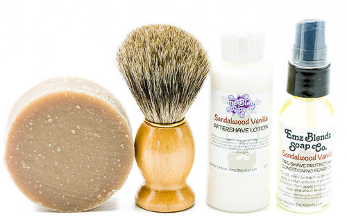 Four Piece Natural Shaving Set - Emz Blendz