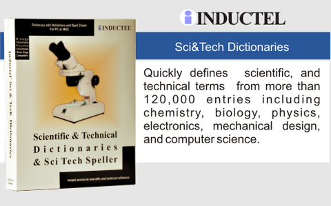 Inductel Scientific and Technical Dictionary Software Web App, Version 17