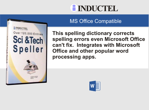 Inductel Scientific and Technical Speller Software CD, Version 17