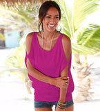 Beautiful Loose Fit Summer Open Shoulder Top