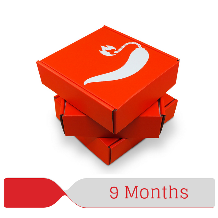 ChilliBOM 9 Month Hot Sauce Gift Subscription Hot Sauce Australia Club Scoville scale chillibomb