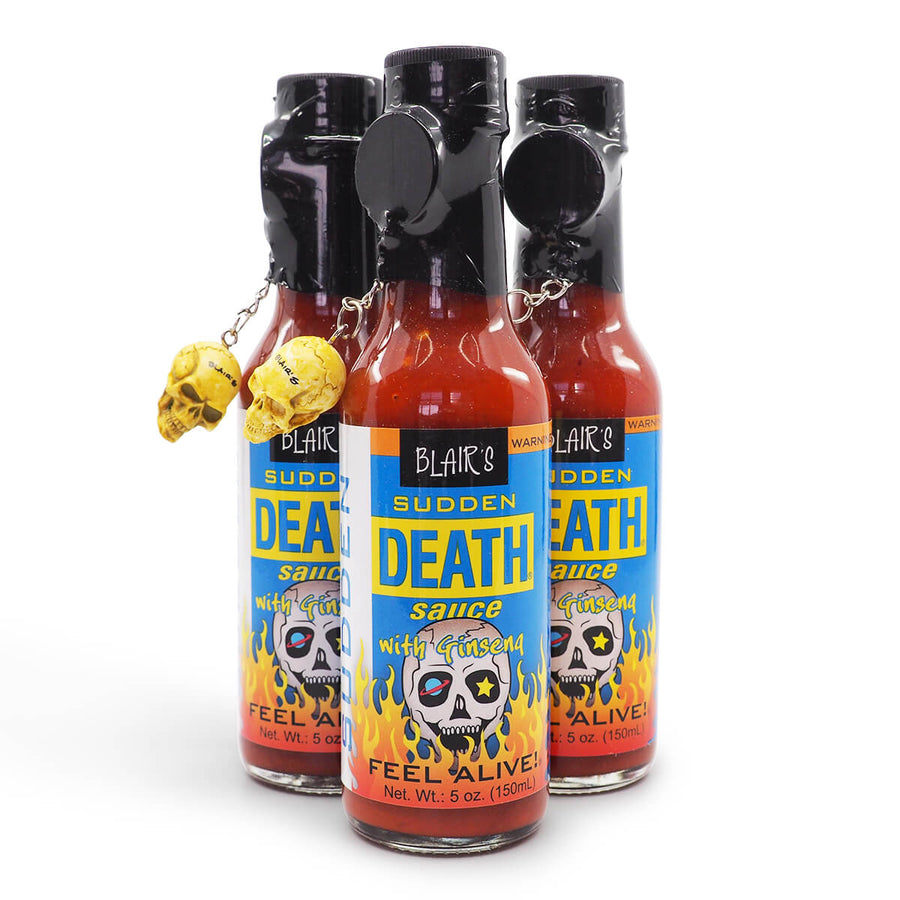 Blair's Sudden Death Hot Sauce 150ml group ChilliBOM Hot Sauce Club Australia Chilli Subscription Gifts SHU Scoville