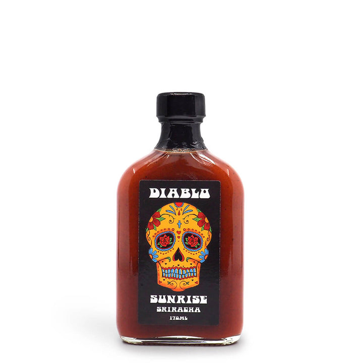 Diablo Sunrise Sriracha Hot Sauce 170ml ChilliBOM Hot Sauce Club Australia Chilli Subscription Gifts SHU Scoville
