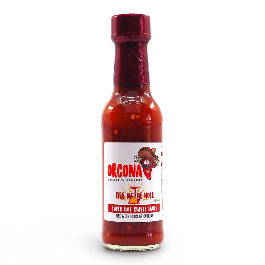 Orcona Fire in the Hole Hot Sauce 150ml ChilliBOM Hot Sauce Club Australia Chilli Subscription Gifts SHU Scoville