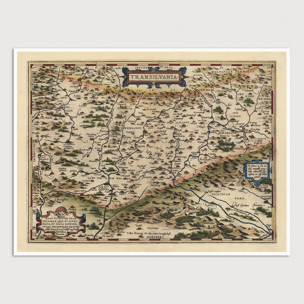 Romania Antique Map Print (1570)