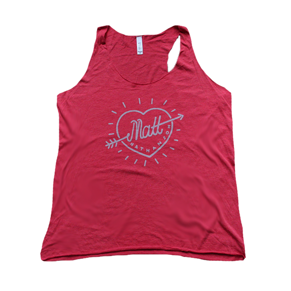 Arrow Heart Red Tank