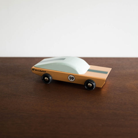 Ace the Wooden Car Toy Side