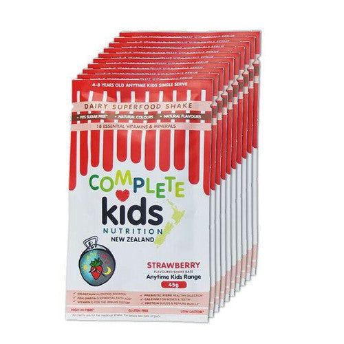 Anytime Kids - On the go 'Strawberry' pack - 10x 45g single serve sachets