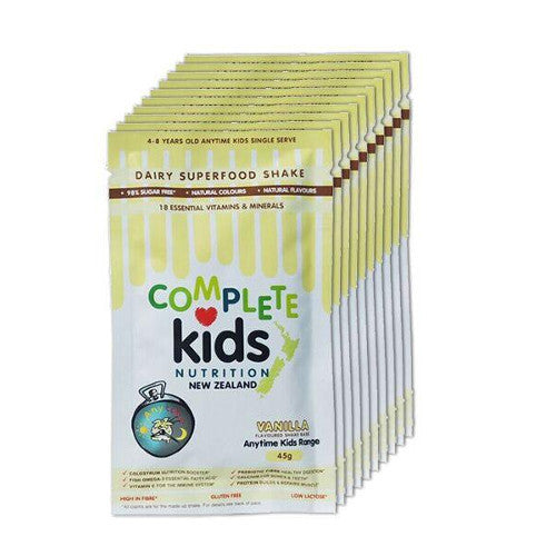 Anytime Kids - On the go 'Vanilla' pack - 10x 45g single serve sachets