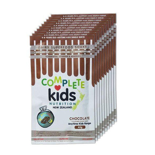 Anytime Kids - On the go 'Chocolate' pack - 10x 45g single serve sachets