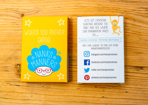 Nana's Manners Would you Rather Cards