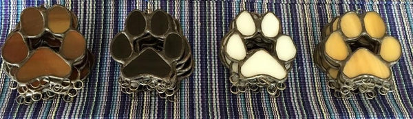 Stained Glass Personalized Paw Print Sun Catcher