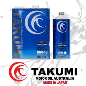 High Quality 10W-40 - Takumi Motor Oil Australia