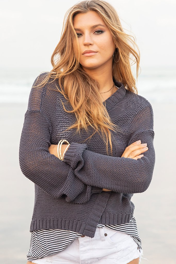 Women's Charli Cardigan Cotton Sweater's | Wooden Ships Knits