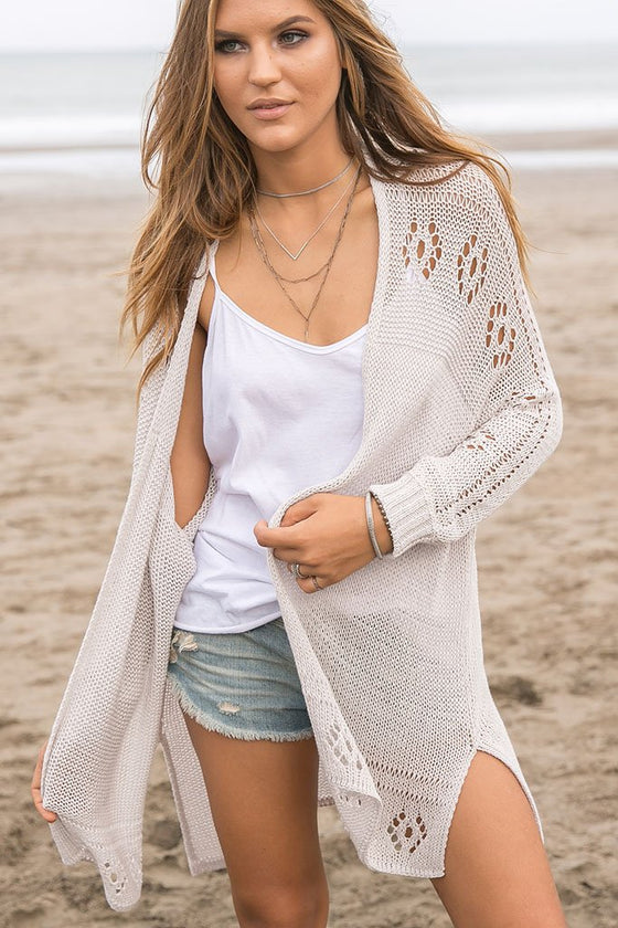 Women's Renee Cardigan Cotton Sweater | Wooden Ships Knits