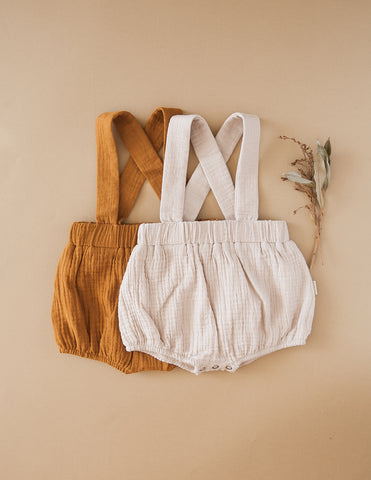 Vintage Style Cotton Suspender Bloomers - Acorn