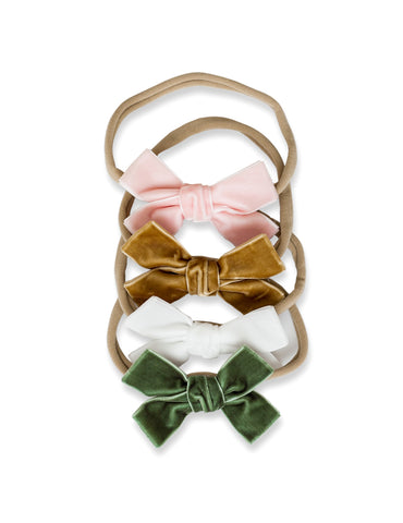 Adorable Velvet Bow Headband for Little Girls