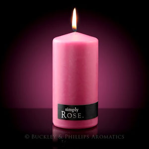 Simply Rose Candle Pillar | Carpe Diem With Remi