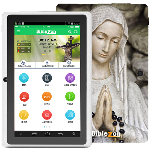 Biblezon Catholic Tablet-Holy Mary (Free Cover & Free Shipping Included)