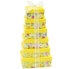 Broadway Basketeers Fresh and Floral Gift Tower