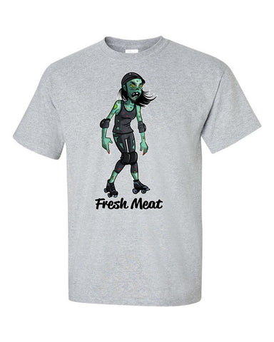 Fresh Meat Zombie Roller Derby Short sleeve t-shirt