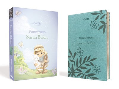 Santa Biblia Precious Moments NVI, Leathersoft Aqua