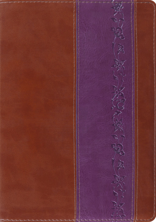 ESV Study Bible (TruTone, Brown/Purple, Iris Design)