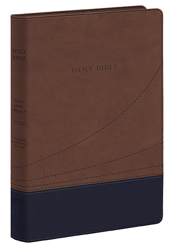 KJV Large Print Thinline Ref. Bible Cocoa / Black / Flexisoft Leather
